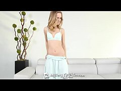 MY VERY FIRST TIME Petite blonde Rachel James i...