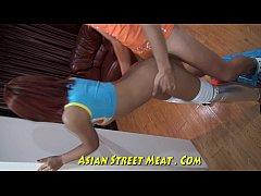 Silver Leggings Give Good Asian Service