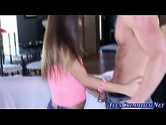 Teen humped in doggystyle