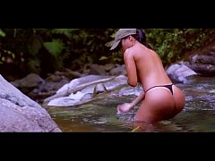 Naked River Bath - Army Girl Real