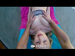 POVD - Petite cutie Lily Rader gets her pussy massaged and fucked