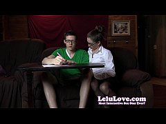Amateur female tutor seduces sucks and fucks he...