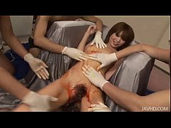 Rika in silver has her body abused by horny Jap...