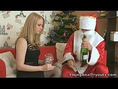 oksana s tight ass hole fucked by santa