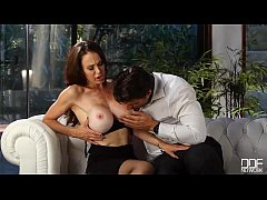 he cant resist - busty milf loves cum on her big tits