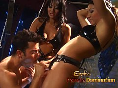 Drag queen spanked by his dominatrix in a hot f...