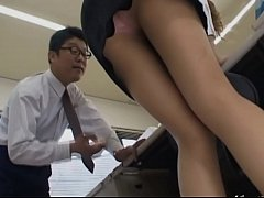 2-Asian secretary from Tokyo with analhole milk...