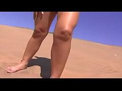 Alejandra Diaz sexy in the sand