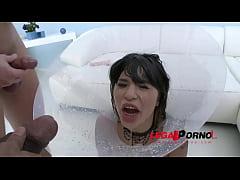 Piss drinking slut Mona Kim 3on1 (DP & Gapes) S...
