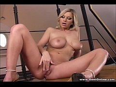Carol Gold Licks Her Own Big Tits!