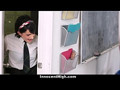 InnocentHigh - Cutie Fucked Both Her Teachers