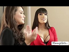 Damn hot Allie Haze seduces her friend Mercedes...