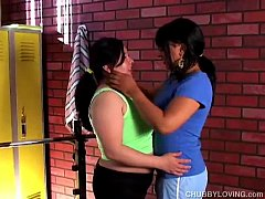 Lovely large lesbians fuck each others juicy pu...