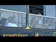 Extreme crazy PUBLIC bus sex