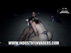 Industry Invaders - Carmen Ross Beach scene