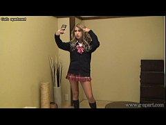 Japanese suntan teen MIRANO switches to super m...