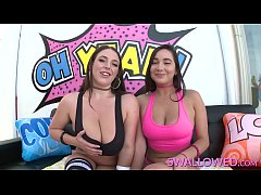 SWALLOWED Karlee Grey and Angela White deepthroat time