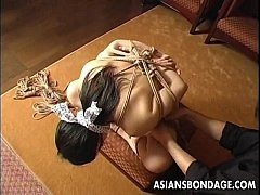 Craving Japanese girl gets tied up and gagged