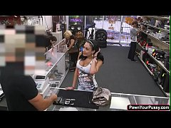Hot and busty latina gets pounded in the pawnsh...