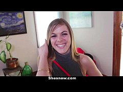 ShesNew - Cute Blonde Amateur Wants To Be A Por...