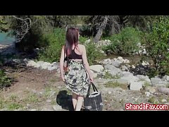 Kinky Milf Shanda Fay Masturbates Out by the Lake!