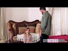 Skinny Teen Babysitter Caught With Boyfriend - ...