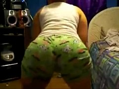Latina Chick Twerking in Pajamas
