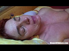 Tired Old Mama Receives A Hard Anal Treat