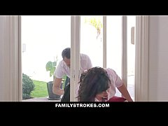 FamilyStrokes - MILF Stuck & Fucked By Both Ste...