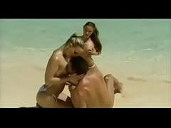 Gilda Roberts hardcore outdoor threesome on the...