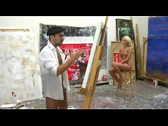 Nude painting with 18yo blonde leads to hot anal pounding
