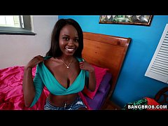 Ebony Lesbians First Cock Experience!