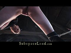 Bondage subjection to brutally fuck for a teen ...