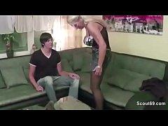 German MILF Mother Claudi Seduce Young Boy to F...