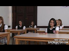 Hot teens and seduced teachers in Sorority Secr...