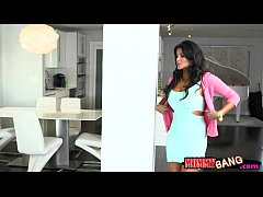 stepmom bianka busted couple pounding on the couch