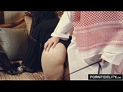 PORNFIDELITY Arab Girl Nadia Ali Punished by White Cock