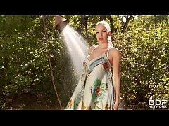 Busty UK Glamour Babe Danielle Maye HOT closeup...