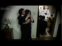 Japanese widow fucked during her husband's fune...
