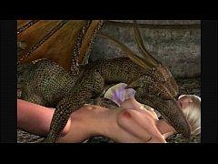 3d animation fairy and dragon