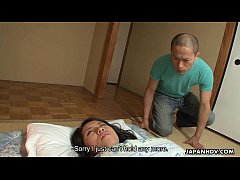 Asian slut gets fucked by the leering perv