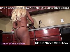 BLONDE SLUT STEP SISTER MSNOVEMBER SHOWS BUTT &...