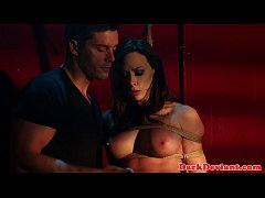 Flogged Chanel Preston banged while tiedup