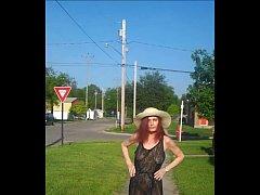 Redhot Redhead Show (see through dress flashing)