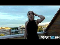 PropertySex - Hot Spainish babe fucks American ...