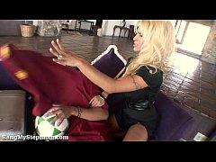 Gorgeous Blonde MILF Seduces Her Stepson!