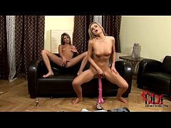 hot blonde czech lesbians cloe and paloma licking each other