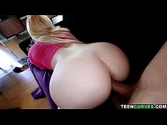 TeenCurves - Pale PAWG Victoria Paradice gets p...