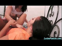 Sex Act With Mean Lez Punishing Teen Cute Lesbo...