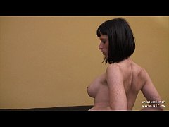 big boobed french milf in lingerie hard analyzed and finished with handjob